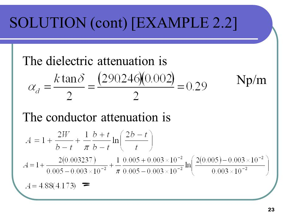 SOLUTION (cont) [EXAMPLE 2.2]